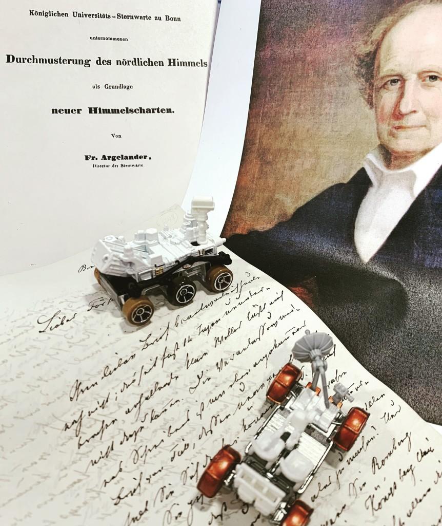 Handschrift, Bildnis und Publikation von friedrich Wilhelm Argelander