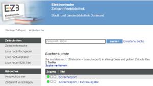 Suchmaske EZB Sprachreport