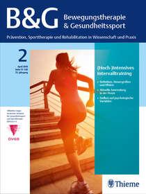 """Cover Zeitschrift """"Bewegungstherapie & Gesundheitssport - B&G"""""""