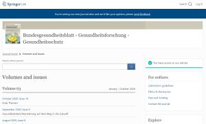 Suchmaske Bundesgesundheitsblatt