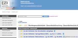 Suchmaske EZB Bundesgesundheitsblatt